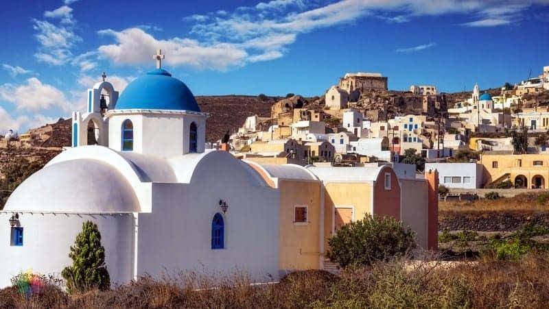 Santorini'de konaklama Akrotiri otelleri