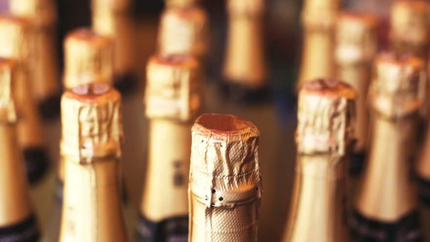 Paris'te alışveriş şampanya