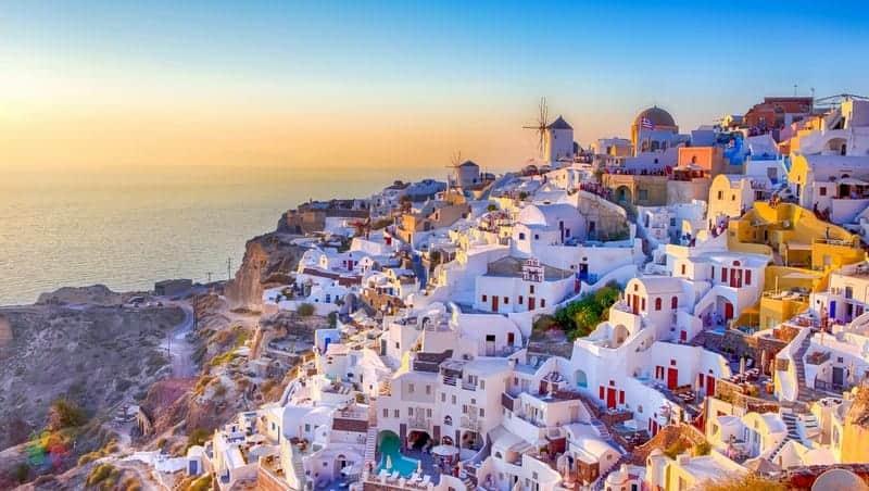 Oia otelleri Santorini'de nerede kalınır