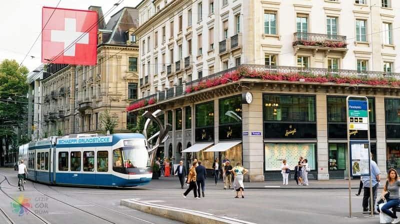 Zürih'te nerede kalınır şehir içi ulaşım araçları