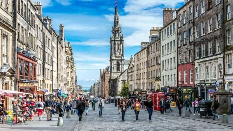 Royal Mile Edinburgh'da görülmesi gereken yerler