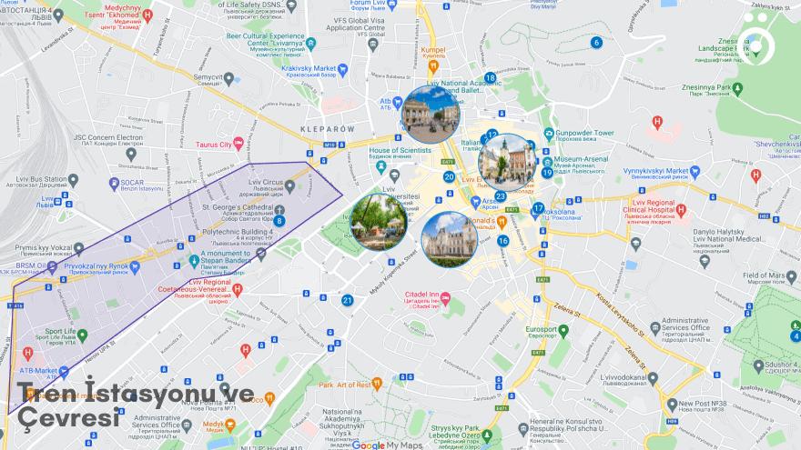 Lviv'de nerede kalınır? Tren istasyonu
