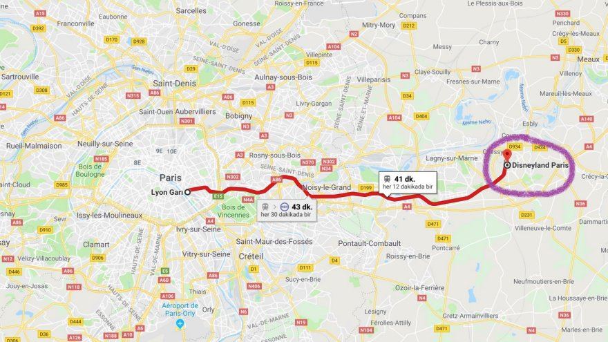 Disneyland Paris haritası
