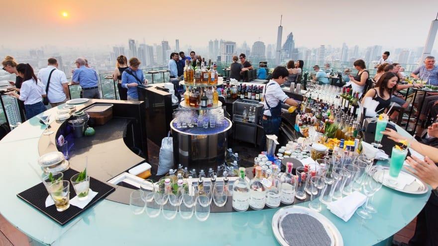 Vertigoand Moon Bar Bangkok'ta yapılacak şeyler l
