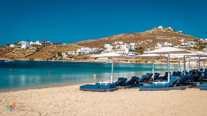 Ornos Beach Mykonos gezilecek yerler