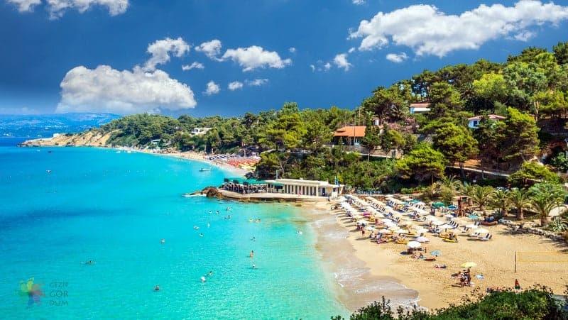 Platis Gialos beach Mykonos gezilecek yerler