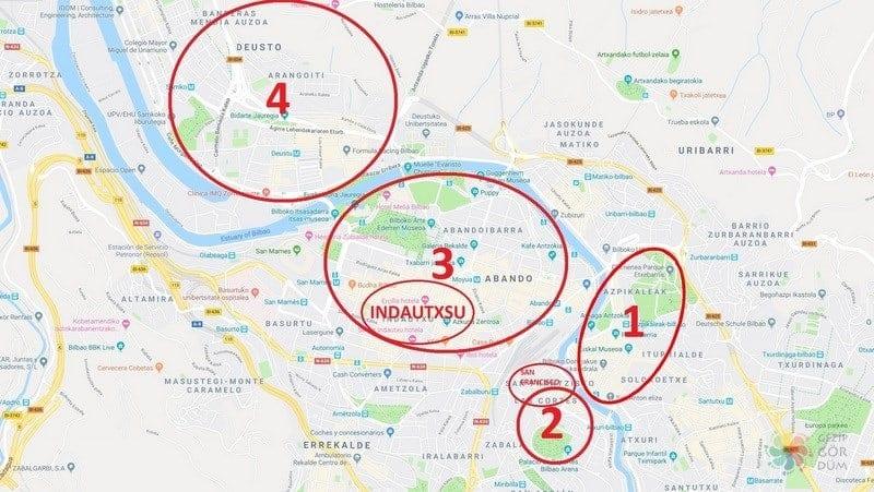 Bilbao'da nerede kalınır bölge konum bilgileri