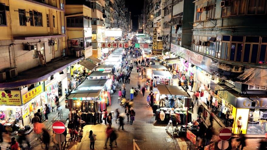 Temple Street Night Market Hong Kong'da yapılacak şeyler