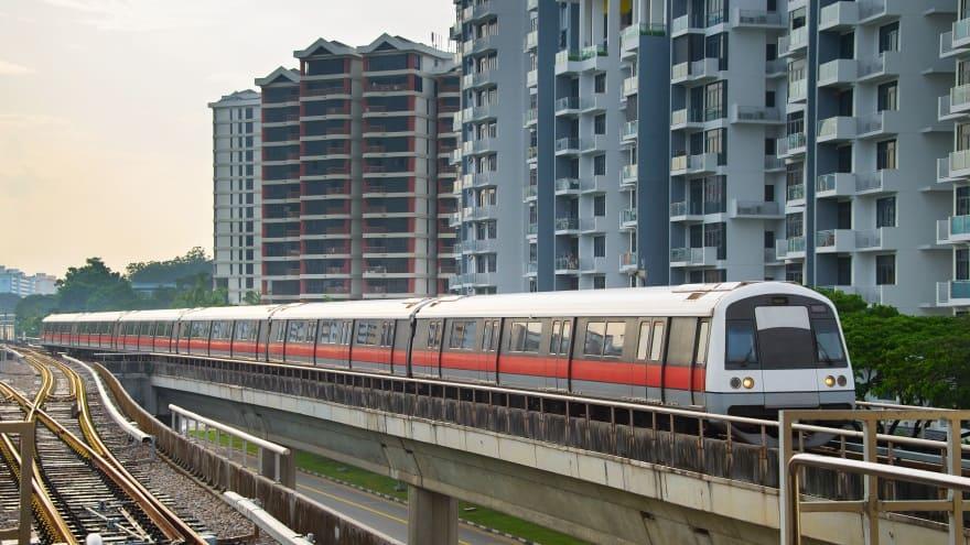 Singapur Havaalanı MRT Trenleri