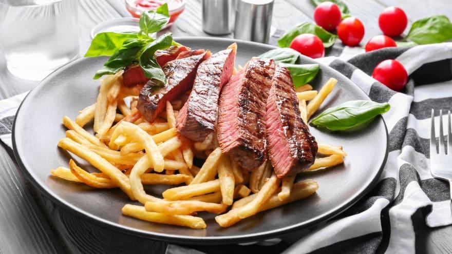 Steak Frites Yöresel Fransız Paris yemekleri